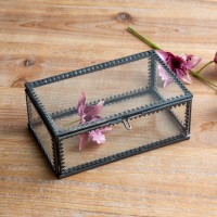 Small Glass Jewelry Box