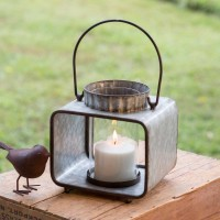 Small Jonah Candle Lantern with Glass