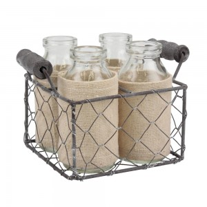 Small Rectangle Wire Bottle Tote