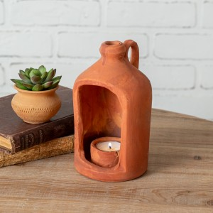 Small Terra Cotta Tea Light Holder