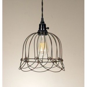 Small Wire Bell Pendant Light