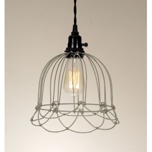 Small Wire Bell Pendant Light - Barn Roof