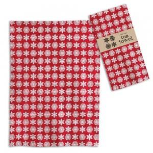 Snowflakes Tea Towel - Box of 4