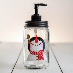 Snowman Soap Dispenser