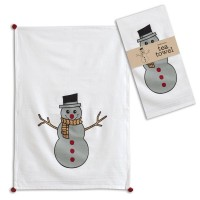 Snowman Tea Towel - Box of 4