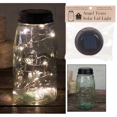 Mason Jar Solar Light Lid - Angel Tears