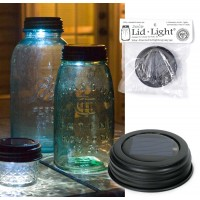 Mason Jar Solar Light Lid - Rustic Brown