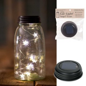 Mason Jar Solar Light Lid - Star Shape Angel Tears