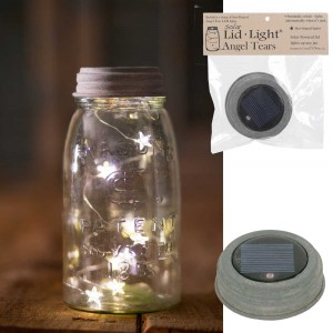 Mason Jar Solar Light Lid - Star Shape Angel Tears - Barn Roof