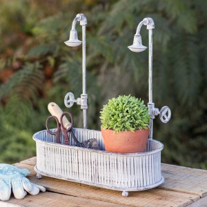 Springtime Showers Oblong Planter