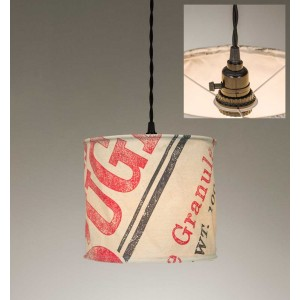 Stagecoach Sugar Canvas Pendant Light