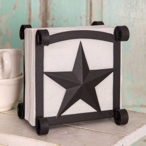 Star Napkin Holder - Rustic Brown