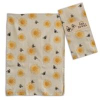 Sunflower with Bee's Tea Towel - Box of 4