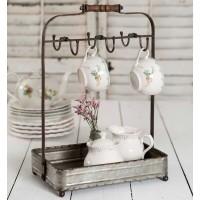 Tabletop Mug Rack with Tray
