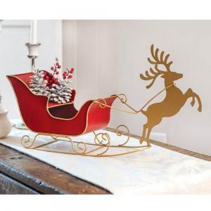 Tabletop Reindeer and Sleigh