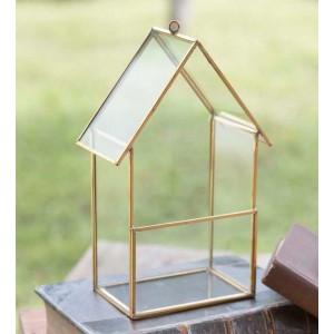 Tall Glass House Terrarium