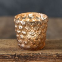Tapered Hobnail Mercury Glass Votive Holder