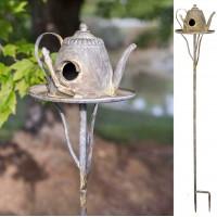 Teapot Tall Garden Stake