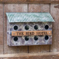 """The Bird Hotel"" Wall-Mounted Birdhouse"