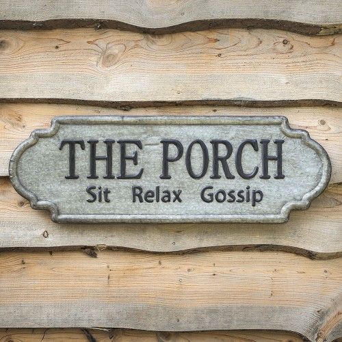 """The Porch"" Metal Sign"