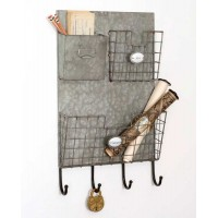 "Three Pocket ""Letters"" Wall Caddy"