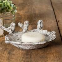 Three Singing Birds Soap Dish