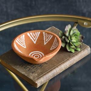 Tribal Terra Cotta Trinket Dish - Box of 2