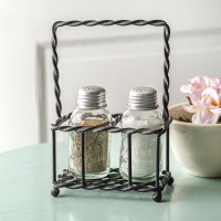Twisted Wire Salt and Pepper Caddy - Box of 2