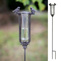 Two Birds Garden Stake Rain Gauge