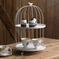 Two-Tier Bird Cage Dessert Tray