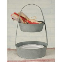 Two-Tier Metal Tote