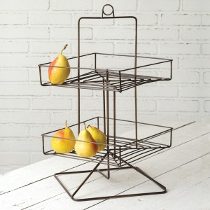 Two-Tier Revolving Wire Tray