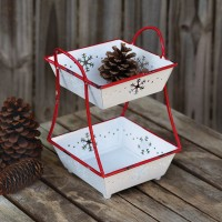 Two-Tier Snowflake Tray