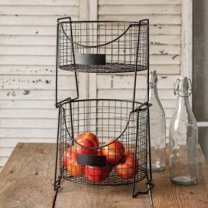 Two-Tier Wire Caddy with Tags