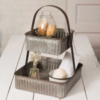 Two-Tiered Corrugated Square Tray