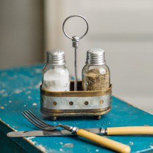 Two-Tone Salt and Pepper Caddy - Box of 2