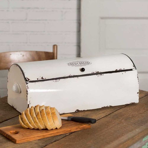 Vintage Enamel Bread Box