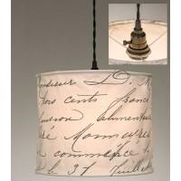 Vintage Handwriting Canvas Pendant Light