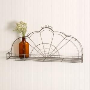 Vintage-Inspired Wire Shelf