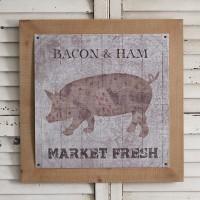 Vintage Meat Market Wall Art