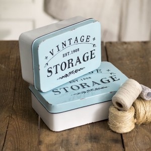 """Vintage Storage"" Tins Set"