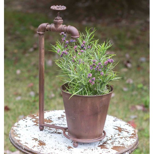 Water Spigot Tabletop Planter