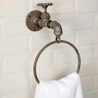 Water Spigot Towel Ring