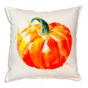 Watercolor Pumpkin Cotton Throw Pillow
