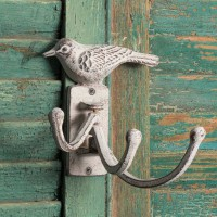 White Bird Hinged Wall Hook