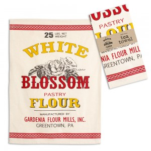 White Blossom Flour Tea Towel