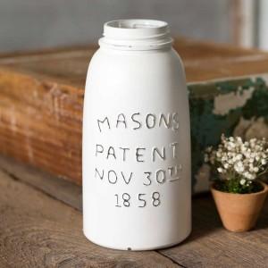 White Half Gallon Mason Jar