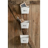 White Numbered Wall Pockets