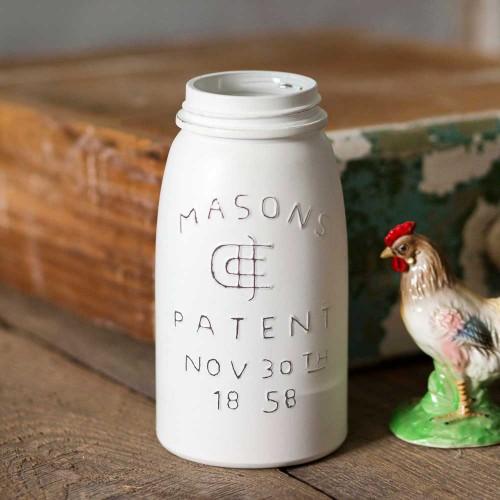 White Quart Mason Jar