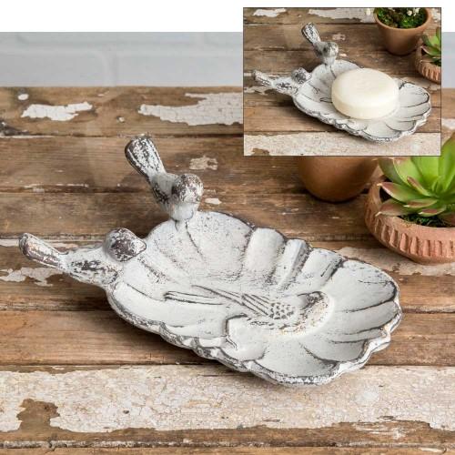 White Wren Soap Dish